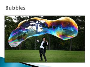Largest Bubble