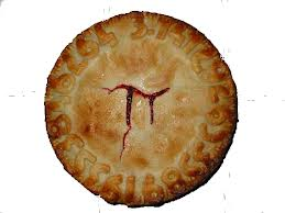 Photo of Pie with the symbol on the crust of pi, even though pi is useless