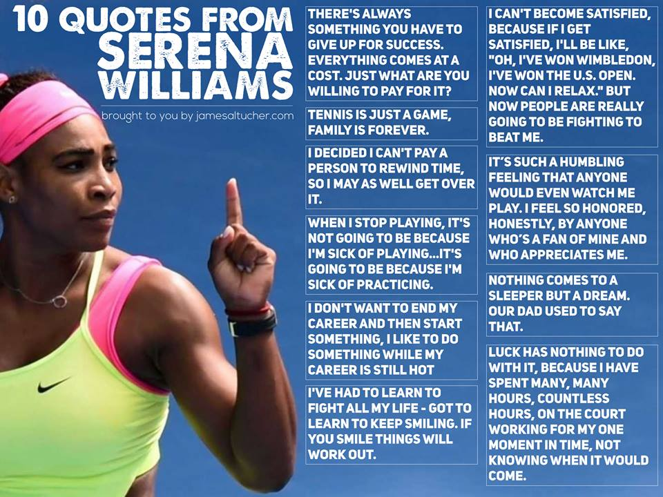 10 Quotes From Serena Williams