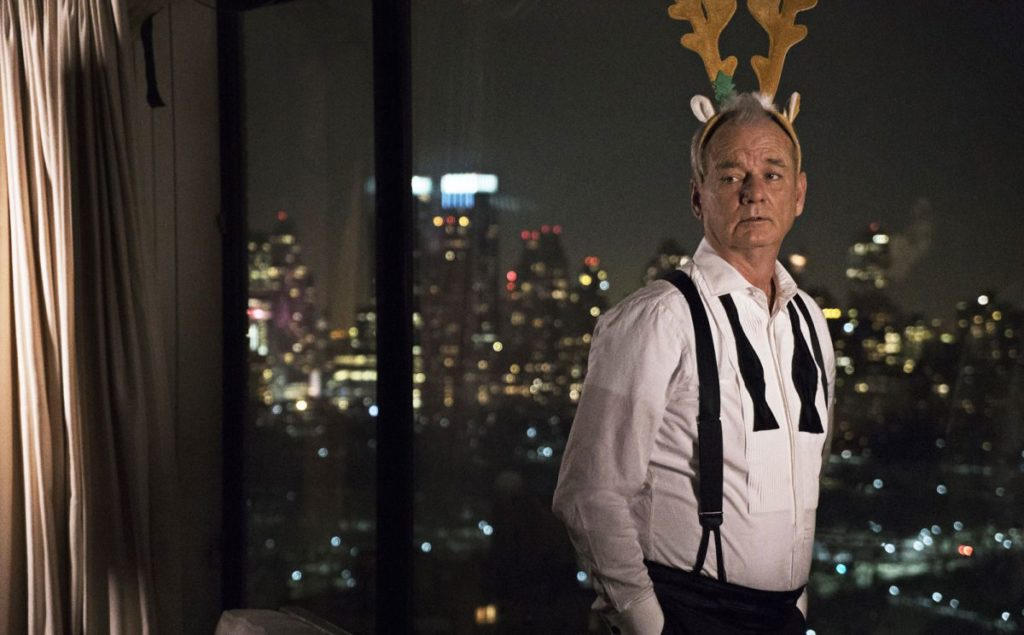 the unique bill murray technique for saying Yes, while in a tuxedo
